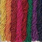 216 Color Choice Mardi Gras Beads Necklaces Lot Party Favors 18 Dozen Metallic