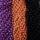 216 Purple Orange Black Halloween Mardi Gras Beads Necklaces Party Favors 18 Doz