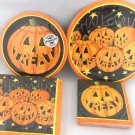 Halloween Pumpkin Smiles 52pc Supplies Basic Party Pack Plates Napkins