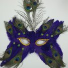 Purple Butterfly Feather Mask Masquerade Mardi Gras