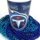 Tennessee Titans 22 oz Cup 12 Mardi Gras Beads Blue Party Supplies