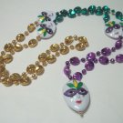 Mask Purple Green Gold Mardi Gras Bead New Party Favors Beads