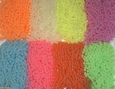 4 dozen Glow In The Dark 48 Mardi Gras Beads Party Favors Necklaces Neon 8 Color