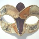 Dark Purple Orange Small Venetian Mask Mardi Gras Masquerade Mardi Gras