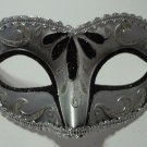 Black Silver Child Small Teen Adult Venetian Mask Masquerade Mardi Gras Party