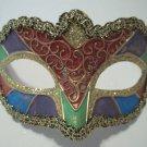 Multi Color Blue Pink Green Purple Masquerade Mardi Gras Dance Teen Mask