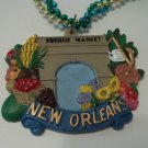 French Market New Orleans Mardi Gras Bead Necklace
