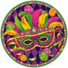 Mardi Gras Plates Masquerade Mask Party Supplies Lunch and Dessert 8 ct Decor