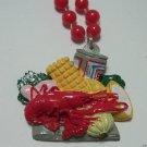 Delicious Crawfish Crayfish Boil Beer Mardi Gras Necklace Beads