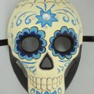 Day of the Dead Halloween Crystal Blue Full Face Mardi Gras Masquerade Mask