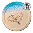 "10"" Dinner Banquet Plates Beach Love Wedding Bridal Shower Luau Party Supplies 8"