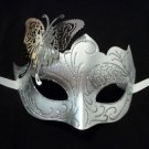 White Silver Butterfly laser cut  Mardi Gras Masquerade Mask Adult