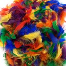 "Rainbow Colors Chandelle Feather Boa 72"" 6Ft 6 Ft Masquerade Costume Party 40 GM"