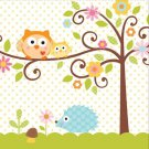 Happi Tree Baby Shower Sweet Baby Owl Paper Napkins Lunch Beverage Pink Blue