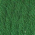 60 Green Mardi Gras Beads Party Favors Metallic Necklaces 5 Dozen Lot