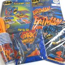 Batman Party Supplies 105 pc Kit for 8 Large Set Plates Cups Napkins Game Favors