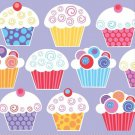 Sweet Cupcake Birthday Party Supplies Napkins Beverage or Lunch