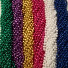 "144 33"" Mardi Gras Beads Party Favors Necklaces PGG Pink White Blue 12 Dozen Lot"