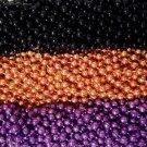 36 Purple Orange Black Halloween Mardi Gras Beads Party Favors Necklaces 3 Dozen