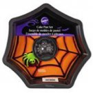 Wilton Spider and Web Cake Pan Halloween non stick Spooky Party Treat 2 pc