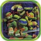 "Teenage Mutant Ninja Turtles 9"" Square Lunch Plates 8 ct Party Supplies TMNT"