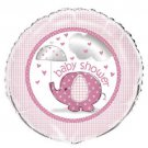 "Umbrella Elephant Pink Girl Baby Shower Party Supplies 1 18"" Mylar Foil Balloon"