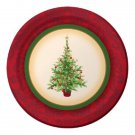 "Christmas Tree Holiday Spruce 9"" Dinner Lunch Plates 8 ct Party Supplies"