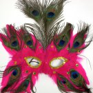 Hot Pink Butterfly Feather Mask Masquerade Mardi Gras