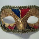 Titan Gold Red Blue Small Venetian Mardi Gras Masquerade Mask Prom Men Boy