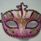 Purple Gold Stripe Venetian Mardi Gras Masquerade Prom Dance Mask