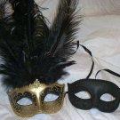 Gold Black His Hers Combo Masquerade Mardi Gras Masks