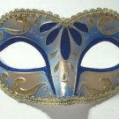 Blue Gold Child, Teen or Adult Venetian Masquerade Mardi Gras Mask