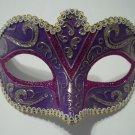Purple Silver Gold Small Child Ornate Masquerade Mask