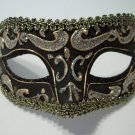 Black Gold Silver Exquisite Venetian Mardi Gras Masquerade Mask Free Shipping