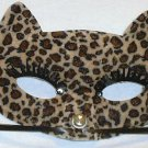 Leopard Velvet Cat Eye Masquerade Party Value Mardi Gras Halloween Mask