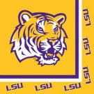 LSU Paper Luncheon Lunch Napkins 20 ct Tailgating Football Party Supplies