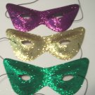 12 Glitter Cat Eye Masks 1 dozen set Mardi Gras Marquerade Party Favors
