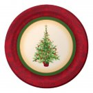 """Christmas Tree Holiday Spruce 7"""" Dessert Cake Lunch Plates 8 ct Party Supplies"""