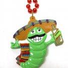 Tequila Green Worm Sombrero Cinco De Mayo Mardi Gras Bead Necklace