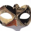 Brown Black Silver Colombina Masquerade Mardi Gras Venetian Mask
