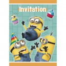Despicable Me 2 Minions Birthday Party Supplies 8 ct Invitations w/ Envelopes