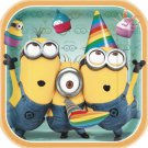 """Despicable Me 2 Minions Birthday Party Supplies Lunch Dinner Plates 9"""" Square"""