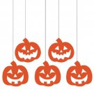 Pumpkins Hanging Glitter Cutouts 5 ct Party Supplies Dizzy Danglers