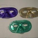 12 (1 dozen) Purple Green Gold Metallic Round Half Mask Masks Mardi Gras Party