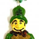 Leprechaun Pot Of Gold Shamrock Clover St Patrick's Day Mardi Gras Bead Necklace