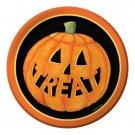 "Halloween Pumpkin Smiles Paper 7"" Dessert Cake Lunch Plates 8 ct Party Supplies"