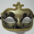 Black Gold Glitter Venetian Masquerade Costume Mask Halloween New Years Party