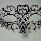 Filigree Vine Metal Black Venetian Masquerade Ball Mardi Gras Laser Cut Mask
