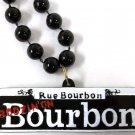 Boozin on Bourbon Street Sign New Orleans Mardi Gras Bead Necklace