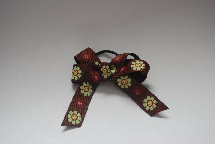 Autum flowers pony bow